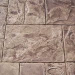 Stamped concrete Grand Ashlar slate pattern