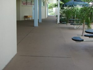 Patio that is refinished with Recoat