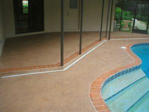 Pool Deck with orange border