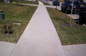 Spray Coat finishes this long sidewalk